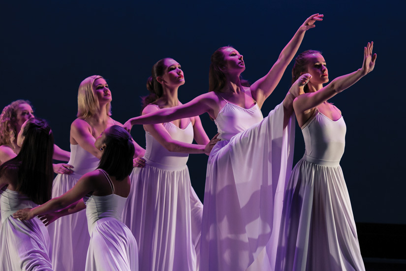 Georgetown University Dance Company tech rehearsal