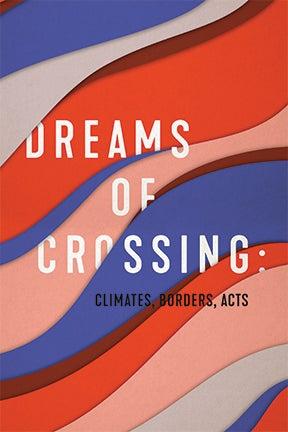 Dreams of Crossing season art, layered wavy lines in purple, gray, red